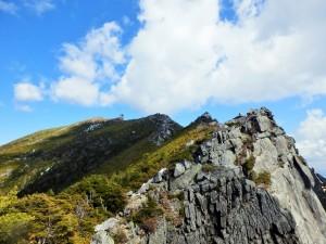 Ridge leading to the summit of Mt.Kinpu